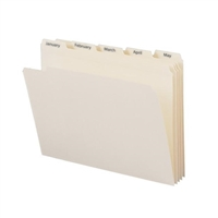 Smead Indexed File Folder Set, Monthly (Jan-Dec) Folders, Reinforced 1/5-Cut Tab, Letter Size, Manila, 12 per Set (11765)