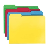 Smead File Folder, 1/3-Cut Tab, Letter Size, Assorted Colors, 24/Pk (11938)