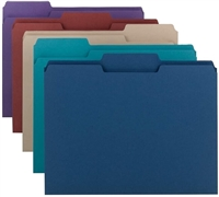 Smead File Folder, 1/3-Cut Tab, Letter Size, Assorted Colors, 100/Bx (11948)