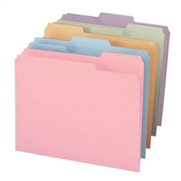 Smead File Folder, 1/3-Cut Tab, Letter Size, Assorted Colors, 100/Bx (11953)