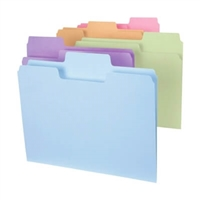 Smead SuperTab File Folder, 1/3 Tab, Letter, Colors, 100/Box (11961)