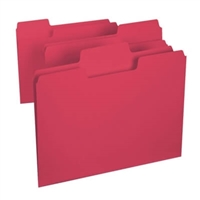 Smead SuperTab File Folder, Letter Size, Red, 100/Box (11983)