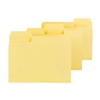 Smead SuperTab File Folder, Letter Size, Yellow, 100/Box (11984)