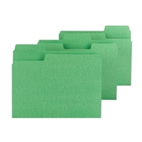 Smead SuperTab File Folder, Letter Size, Green, 100/Box (11985)