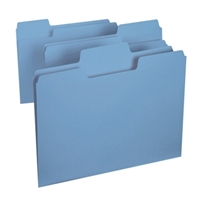 Smead SuperTab File Folder, Letter Size, Blue, 100/Box (11986)