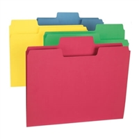 Smead SuperTab File Folder, 1/3 Tab, Letter, Colors, 100/Box (11987)