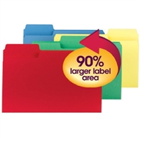 Smead SuperTab File Folder, Legal,Colors, 100/Box (11988)