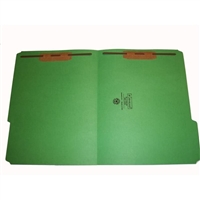 Smead 12134-F13 Colored Fastener Folders, Letter Size, 1/3-Cut Reinforced, Fasteners Pos 1/3, 11pt Green, 50/Box