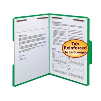 Smead WaterShed/CutLess Fastener Folders Green 50/Bx (12142)