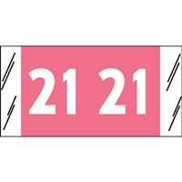 Acme Visible Year Labels, 2021, Pink, 3/4 x 1-1/2, 1000/RL