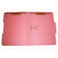 Smead 12634-F13 Colored Fastener Folders, Letter Size, 1/3-Cut Reinforced, Fasteners Pos 1/3, 11pt Pink, 50/Box