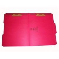 Smead 12734-F13 Colored Fastener Folders, Letter Size, 1/3-Cut Reinforced, Fasteners Pos 1/3, 11pt Red, 50/Box