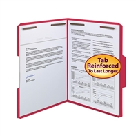 Smead WaterShed/CutLess Fastener Folders Red (12742)
