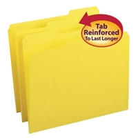 Smead File Folder, 1/3-Cut Tab, Letter Size, Yellow, 100/Bx (12934)