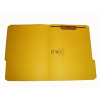Smead 12934-F1 Colored Fastener Folders, Letter Size, 1/3-Cut Reinforced, Fastener Pos 1, 11pt Yellow, 50/Box