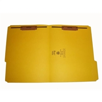 Smead 12934 Colored Fastener Folders, Letter Size, 1/3-Cut Reinforced, Fasteners Pos 1/3, 11pt Yellow, 50/Box