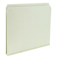 Smead Pressboard Folders Gray/Green (13200) Box of 25