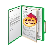 "Smead Classification File Folder, 1 Divider, 2"" Exp, Letter (13702)"