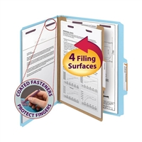 Smead Pressboard Classification Folder with SafeSHIELD Fasteners (13730)