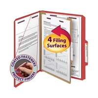 Smead Pressboard Classification Folder with SafeSHIELD Fasteners (13731)