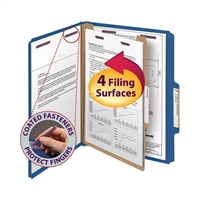 Smead Pressboard Classification Folder with SafeSHIELD Fasteners (13732)