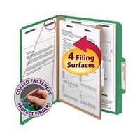 Smead Pressboard Classification Folder with SafeSHIELD Fasteners (13733)