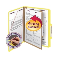 Smead Pressboard Classification Folder with SafeSHIELD Fasteners (13734)
