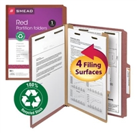 Smead 100% Recycled Pressboard Colored Classification Folders (13746) (Discontinued)
