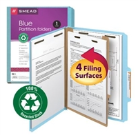 Smead 100% Recycled Pressboard Colored Classification Folders (13748) (Discontinued)