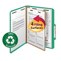 Smead 100% Recycled Pressboard Colored Classification Folders (13749)