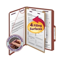 Smead Pressboard Classification Folder with SafeSHIELD Fastners (13775)