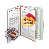 Smead Pressboard Classification Folder with SafeSHIELD Fastners (13776)