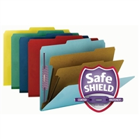 Smead Pressboard Classification Folder with SafeSHIELD Fasteners (14025)
