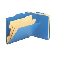 Smead Poly Classification Folder, 2 Dividers, Letter, Blue (14045)