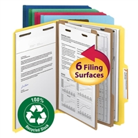Smead 100% Recycled Pressboard Colored Classification Folders (14049)
