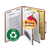 Smead 100% Recycled Pressboard Colored Classification Folders (14054)