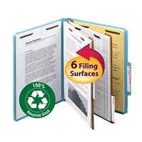 Smead 100% Recycled Pressboard Colored Classification Folders (14056)
