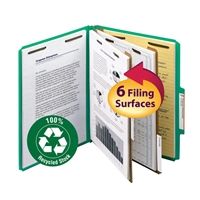 Smead 100% Recycled Pressboard Colored Classification Folders (14057)