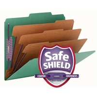 Smead Pressboard Classification Folder SafeSHIELD Fasteners (14097)