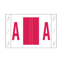 Tab Alpha Code Labels Letter A Red 14101
