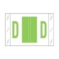 Tab Alpha Code Labels Letter D Green 14104