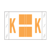Tab Alpha Code Labels Letter K Light Orange 14111
