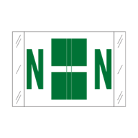 Tab Alpha Code Labels Letter N Dark Green 14114