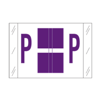 Tab Alpha Code Labels Letter P Purple 14116