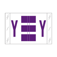 Tab Alpha Code Labels Letter Y Purple 14125