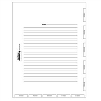 4-hole Punched Admission Index Divider Sheets