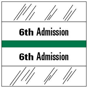 6th Admission Index Tab