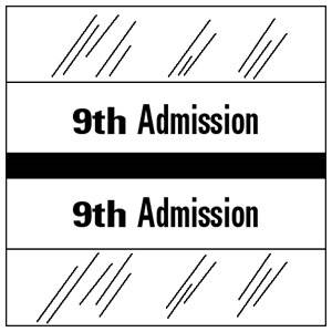 9th Admission Index Tab