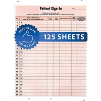 Patient Sign-In Label Forms Salmon 125/Pack