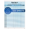 HIPAA Sign In Sheets Blue 125/Pack